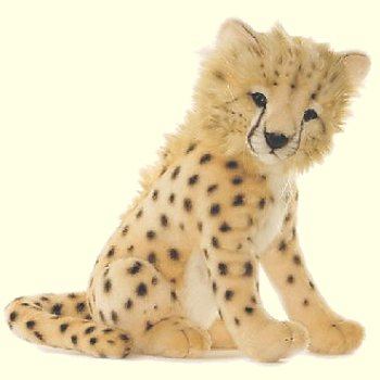 Hansa Stuffed Plush Cheetah Cub