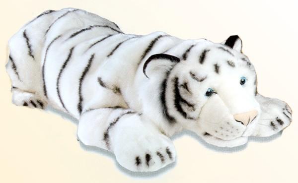 Stuffed Plush White Tiger From No China Plush